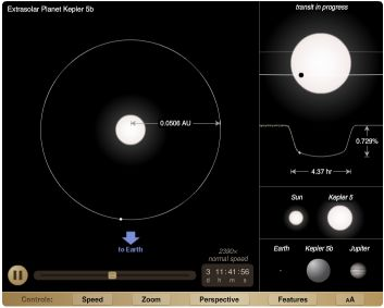 Kepler-5b visualization